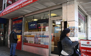 PHOTO: A Queens real estate agency advertising property for sale in Colombia. Colombian immigrants in New York and other states are finding their dream of owning a home is out of reach after 20 or 30 years of working in America, and are heading back to retire in Latin America. Photo courtesy Feet in 2 Worlds.