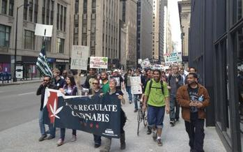 PHOTO: Supporters of drug policy reform will gather Saturday in Chicago to celebrate the progress they believe Illinois and other states are making to end cannabis prohibition. Photo credit: Ali Nagib, Illinois NORML.