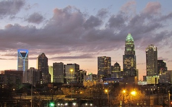 PHOTO - Charlotte is among a handful of North Carolina cities recognized as being among the cleanest cities for short-term particle pollution in a new report from the American Lung Association. Photo credit: Wikipedia.