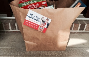 PHOTO: Leave bags of nonperishable food items near your mailbox on Saturday and they will be collected by your letter carrier as part of the Stamp Out Hunger food drive. Photo credit: M. Kuhlman