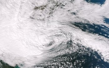 PHOTO: It won't take a storm as large as Hurricane Sandy to cause serious coastal flooding in New Hampshire, according to a new report that confirms global warming's link to climate change. Photo credit: NASA/NOAA.