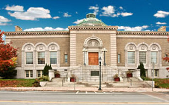 PHOTO: Bangor Public Library would be eligible for energy-efficiency upgrades under a new Grants to Green program designed to help nonprofits in Maine's historic downtowns. Photo courtesy Maine Preservation.