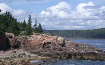 PHOTO: Less tranquil scenes, such as heavy rain, heat waves, coastal and river flooding, are all in Maine's future, according to a new report that confirms global warming's link to climate change. Photo credit: Sdantzer/Wikimedia Commons.