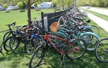 PHOTO: Pedaling and braking will be part of the curriculum today for nearly 150 Michigan schools taking part in national Bike to School Day. Photo courtesy National Center for Safe Routes to School.