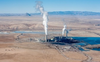PHOTO: Four Corners Power Plant. Photo courtesy of EcoFlight and San Juan Citizens Alliance.