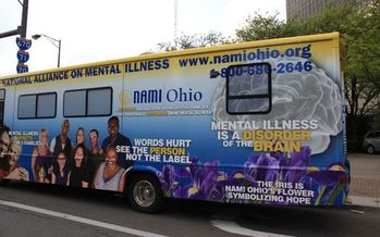 PHOTO: NAMI Ohio is launching a mobile bus tour this summer to build support for Ohioans living with a mental illness. Photo courtesy NAMI Ohio.