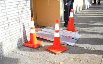 PHOTO: CIDNY spent years documenting problems that some people have had simply getting to their local polling places to cast a ballot. This example in Brooklyn is taken from CIDNY 2012 poll site survey. Photo courtesy CIDNY.
