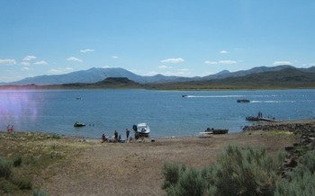 PHOTO: Citing a possible fish die-off because of drought, Nevada wildlife officials are lifting fishing catch limits at Wild Horse and Willow Creek reservoirs. Photo courtesy Nevada State Parks.