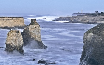 PHOTO: Seastacks and lighthouse at Point Arena-Stornetta California Coastal National Monument, which was protected earlier this year. The area was highlighted as the number three