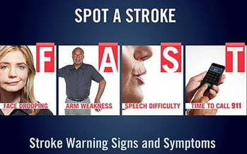 GRAPHIC: The symptoms of a stroke can be easily remembered with the acronym FAST. Courtesy American Heart Association of Minnesota.