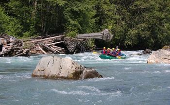 PHOTO: It's prime time to raft the Sauk River in northwestern Washington, and the town of Darrington is hoping people won't stay away in the aftermath of this year's deadly Oso mudslide. Photo courtesy Adventure Cascades.