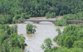 PHOTO: Floodwaters in Duluth in June 2012 left more than $100 million in damage to public infrastructure. Photo courtesy of the city of Duluth.